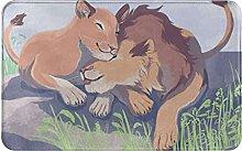 KENADVI Tappetini da bagno per bagno,Lions mamma e