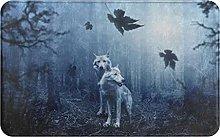 KENADVI Tappetini da bagno per bagno,lupi nella