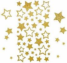 Keoste 5 Fogli di Adesvi di Stella Glitter Adesivi