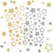 Keoste 6 Fogli di Adesvi di Stella Glitter Adesivi