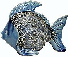 Keyhome Decorazione in Ceramica Luminosa Pesce con