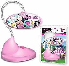 Kids WD19713 Minnie Lampada LED da tavolo, rosa,