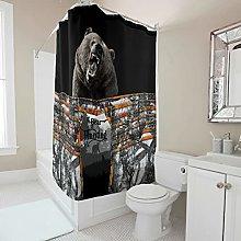 kikomia Tenda da doccia decorativa con stampa di