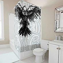 kikomia Tenda da doccia decorativa in bianco e