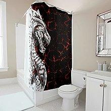 kikomia Tenda da doccia lavabile, con motivo a