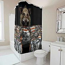 kikomia Tenda da doccia lavabile con stampa di