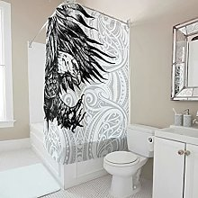 kikomia Tenda da doccia lavabile, con stampa