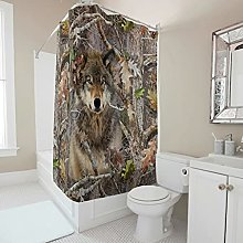 kikomia Tenda da doccia lavabile in lavatrice,