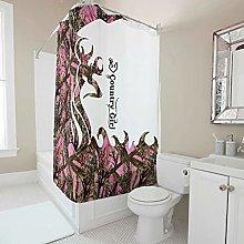 kikomia Tenda da doccia lavabile, motivo cervo