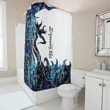 kikomia Tenda da doccia lavabile, motivo: cervo