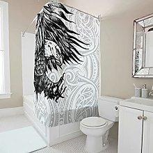 kikomia Tenda da doccia resistente, colore nero e