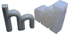 Kimyu Stampo in silicone a forma di alfabeto 3D,