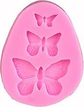 Kimyu Stampo in silicone a forma di farfalla 3D