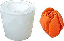 Kimyu - Stampo in silicone a forma di fiore in 3D,