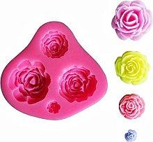 KIRALOVE Stampo in Silicone a Forma di 4 Rose -