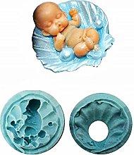 KIRALOVE Stampo in Silicone a Forma di Bambino -