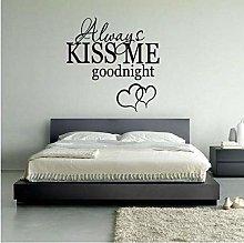 Kiss Me Forever Night Adesivi Murali Comodino