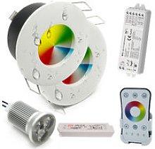 KIT 2 faretti LED 18W RGB multicolore luci incasso