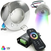 Kit 2pz led cromoterapia box doccia IP65 RGB 8