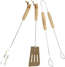 Kit 3 Accessori Cottura Barbecue Grill Acciaio