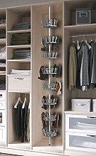 Kit Closet scarpiera girevole 48paia, Grigio,