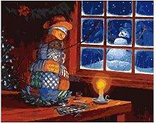 Kit di pittura a olio per bambini Natale pupazzo