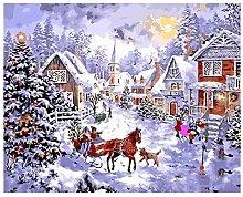 Kit di pittura a olio per bambini pupazzo di neve