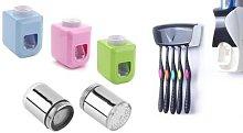 Kit Dispenser Automatico Per Dentifricio E Porta