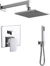 kit doccia square 3 completo di soffione doccetta