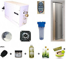 Kit hammam steamplus con porta e accessori