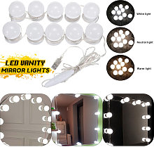 Kit luce LED dimmerabile per specchio cosmetico da