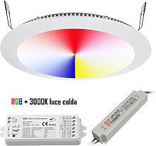 KIT pannello LED faretto incasso RGB RGBW