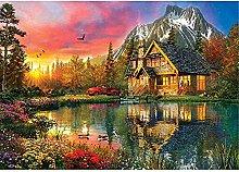 Kit Pittura Diamante 5D Casa Lago di Montagna