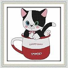Kit punto croce per principianti adulto-Gatto