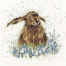 Kit ricamo punto croce adulto coniglio tela