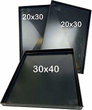 Kit Teglie Forno Composto da Due teglie 20x30x2 Cm