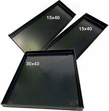 Kit Teglie Forno Composto da Due teglie 40x15x2 Cm