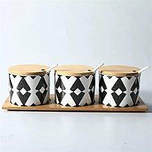 Kitchen Ceramic Spice Jar Desioning Box Kit Home