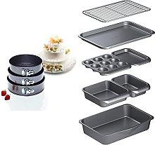 Kitchen Craft, Stampi per Torte, Set di 3- 22cm,