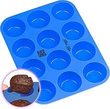 Kitchen Helpis® Stampo in Silicon per 12 Muffin e