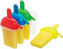 KitchenCraft - Stampo per ghiaccioli con 4 manici,