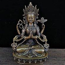 KKUUNXU Bronzo Statua di Buddha Guanyin Statua di