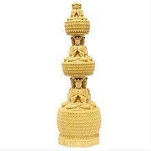 KKUUNXU Buddha a Tre Piani Torre Statua in Legno
