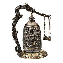 KKUUNXU Buddismo Tempio Ottone Rame Drago Campana