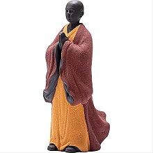 KKUUNXU Buddismo Zen Buddha Scultura Monaco Statua