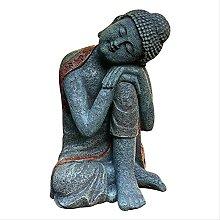 KKUUNXU Casa Soggiorno Zen Buddha Statua Acquario