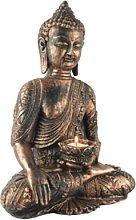 KKUUNXU Colore Pietra Statua di Buddha Decorazioni
