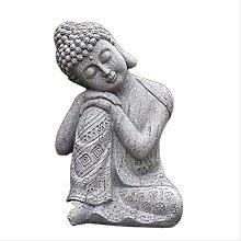 KKUUNXU Outdoor Fengshui Zen Buddha Statue Resin