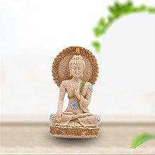 KKUUNXU Resina Craft Buddha Figurine Arenaria