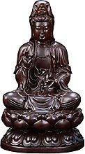 KKUUNXU Scultura in Legno di Ebano Guanyin Buddha
